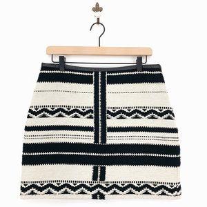 Madewell Gamine Mini Skirt in Geo Jacquard Size 8